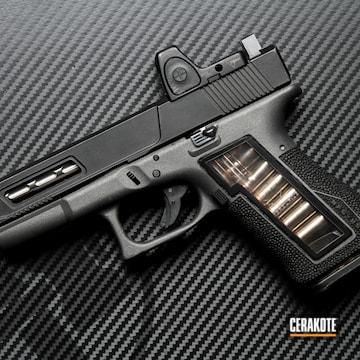 Glock 19 Cerakoted Using Graphite Black And Tungsten