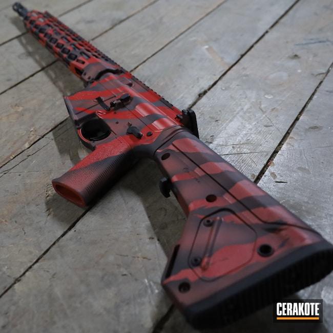 Cerakoted: S.H.O.T,Ruger,Graphite Black H-146,AR,Camo,Ruger AR556,.223,HABANERO RED H-318,Custom Camo,5.56,AR-15