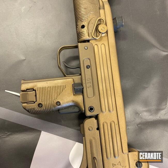 Cerakoted: S.H.O.T,9mm,Uzi,Midnight Bronze H-294,Gold H-122