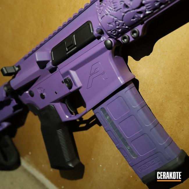 Cerakoted: S.H.O.T,AR Pistol,m4e1,SBA3,Graphite Black H-146,Aero,AR,Bright Purple H-217,.223,5.56,SB Tactical