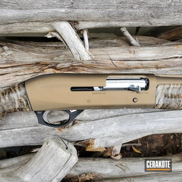 Benelli Shotgun Cerakoted Using Matte Ceramic Clear And Burnt Bronze