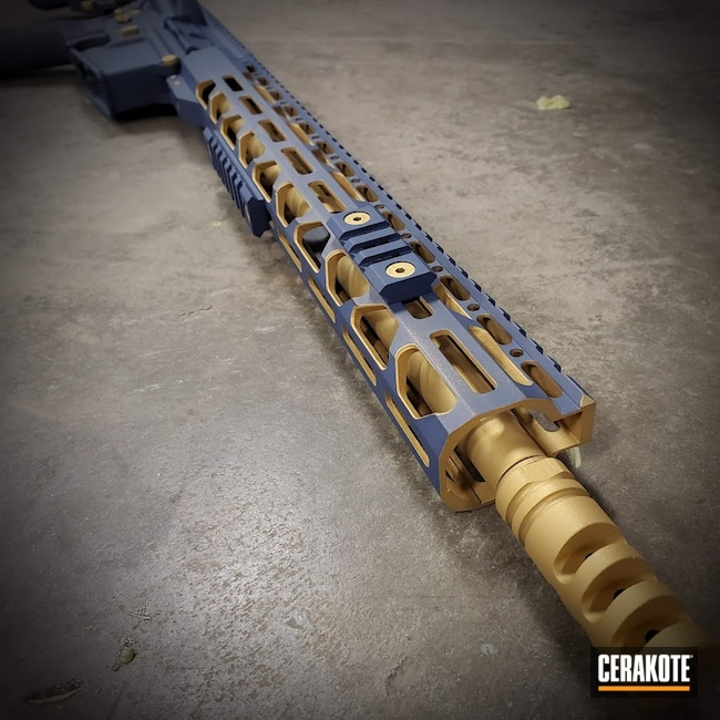 Cerakoted: S.H.O.T,NORTHERN LIGHTS H-315,Gold,Gold H-122,Blue Titanium H-185,AR-15