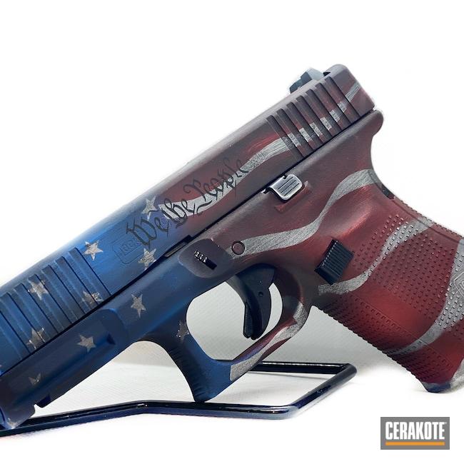 Cerakoted: Bright White H-140,S.H.O.T,Glock 19,NRA Blue H-171,FIREHOUSE RED H-216,Graphite Black H-146,American Flag