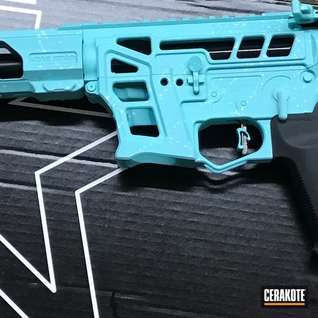 Cerakoted: Bright White H-140,S.H.O.T,9mm,Rifle,SASP,Robin's Egg Blue H-175,Competitive Shooting,Tactical Rifle,AR9,PCC