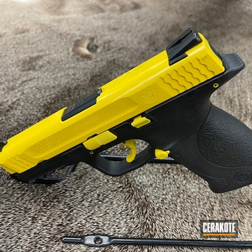 Smith & Wesson M&p Cerakoted Using Corvette Yellow
