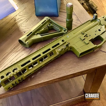 Ar Builders Set And Stock Cerakoted Using Multicam® Bright Green