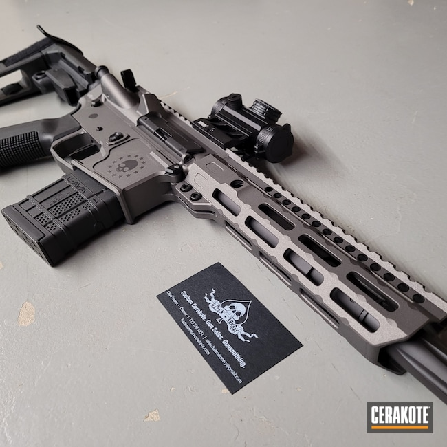 Cerakoted: S.H.O.T,AR Pistol,Graphite Black H-146,Tungsten H-237,.300 Blackout,AR-15