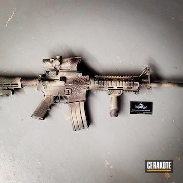 Custom Camo M4 Cerakoted Using Multicam® Dark Brown, O.d. Green And Flat Dark Earth