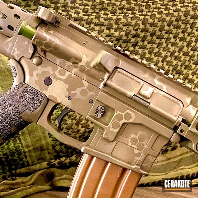 Cerakoted: S.H.O.T,MULTICAM® BRIGHT GREEN H-343,McMillan Olive H-202,O.D. Green H-236,SQUATCH GREEN H-316,Firearms,Custom Camo,5.56,HAZEL GREEN H-204,Patriot Brown C-226,Laser Cut Stencils,Table Rock Camo,Patriot Brown H-226,Branson Cerakote