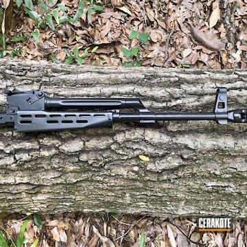 Ak-47 Upper Cerakoted Using Blackout