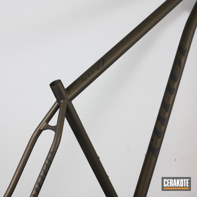 Cerakoted: S.H.O.T,Bike Frame,Frame,Graphite Black H-146,Bicycle,Midnight Bronze H-294