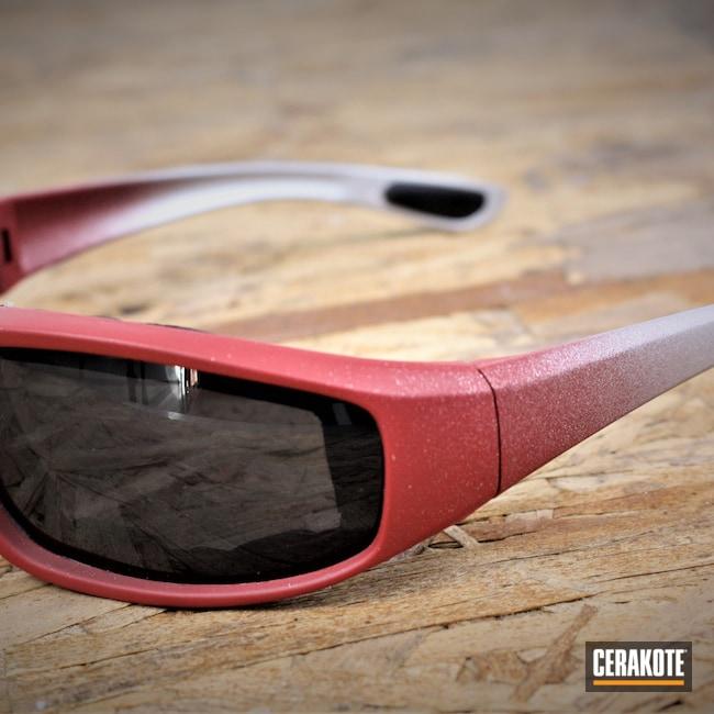 Cerakoted: Sunglasses,RUBY RED H-306,Titanium H-170,Glasses