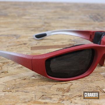 Sunglasses Cerakoted Using Titanium And Ruby Red