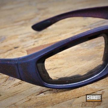 Sunglasses Cerakoted Using Kel-tec® Navy Blue, Armor Black And Ruby Red
