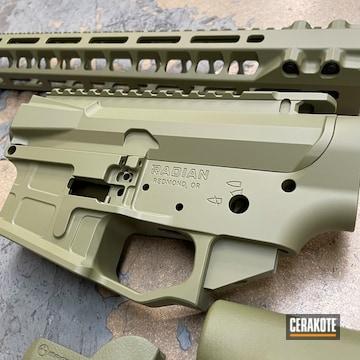 Radian Weapons Ar Builders Set Cerakoted Using Noveske Bazooka Green And Armor Black