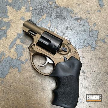 Ruger Lcr Revolver Cerakoted Using Burnt Bronze