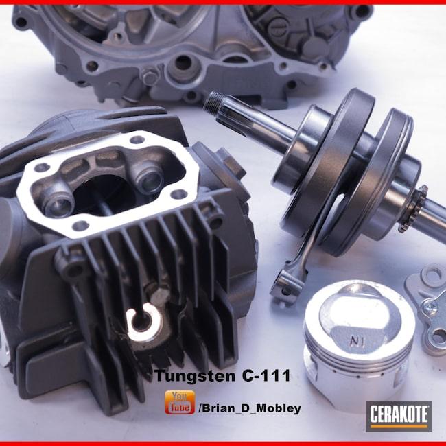 Cerakoted: Pit Bike,TUNGSTEN C-111,Motocross,Motorcycle Parts,Engine,Automotive,Dirt Bike,Honda,CRF