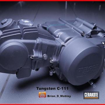 Honda Crf Engine Cerakoted Using Tungsten