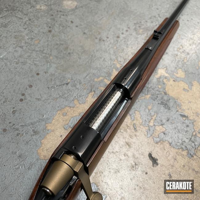 Cerakoted: S.H.O.T,Rifle,Bolt Action Rifle,BLACKOUT E-100,Hunting Rifle,Burnt Bronze H-148,Remington,Remington 700