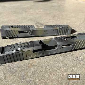 Custom Camo Glock Slides Cerakoted Using Armor Black, Sig™ Dark Grey And Graphite Black