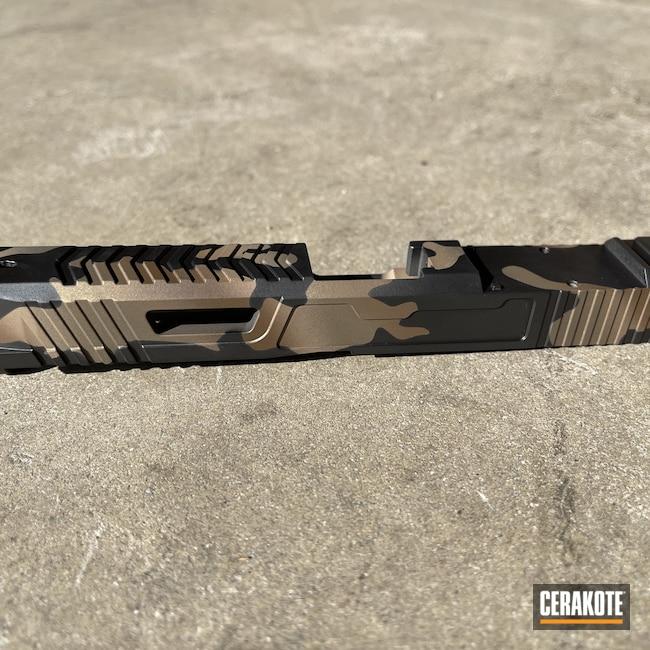 Cerakoted: S.H.O.T,9mm,MAGPUL® FLAT DARK EARTH H-267,MultiCam,Graphite Black H-146,Burnt Bronze H-148,Glock 17,Plum Brown H-298