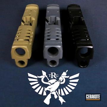 Custom Slides Cerakoted Using Sniper Grey, Graphite Black And Magpul® Fde