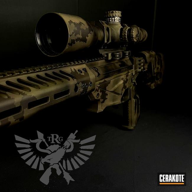 Cerakoted: S.H.O.T,Hunting,Rifles,Ruger Precision,Ruger,Graphite Black H-146,Camo,Sniper,Camouflage,Custom Camo,MULTICAM® DARK GREEN H-341