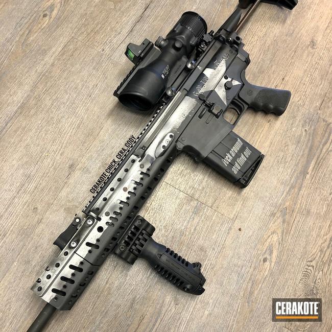 Cerakoted: S.H.O.T,Sniper Grey H-234,SCAR,Snow White H-136,Battelworn Texas Flag,Graphite Black H-146,FN,Texas Flag