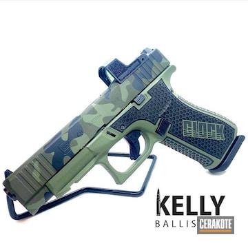 Custom Camo Glock 48 Cerakoted Using Sniper Green, Graphite Black And Multicam® Dark Green