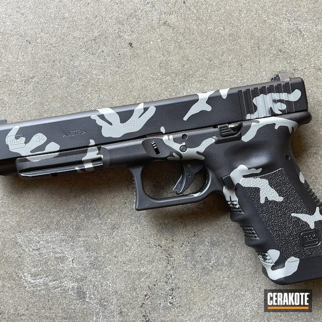 Cerakoted: S.H.O.T,9mm,Graphite Black H-146,Glock 34,Bull Shark Grey H-214