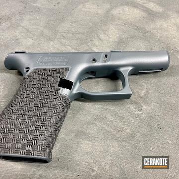 Glock 43x Frame Cerakoted Using Armor Black And Jesse James Civil Defense Blue