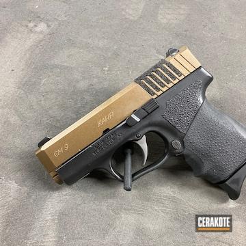 Kahr Arms Cm9 Pistol Cerakoted Using Armor Black And Burnt Bronze