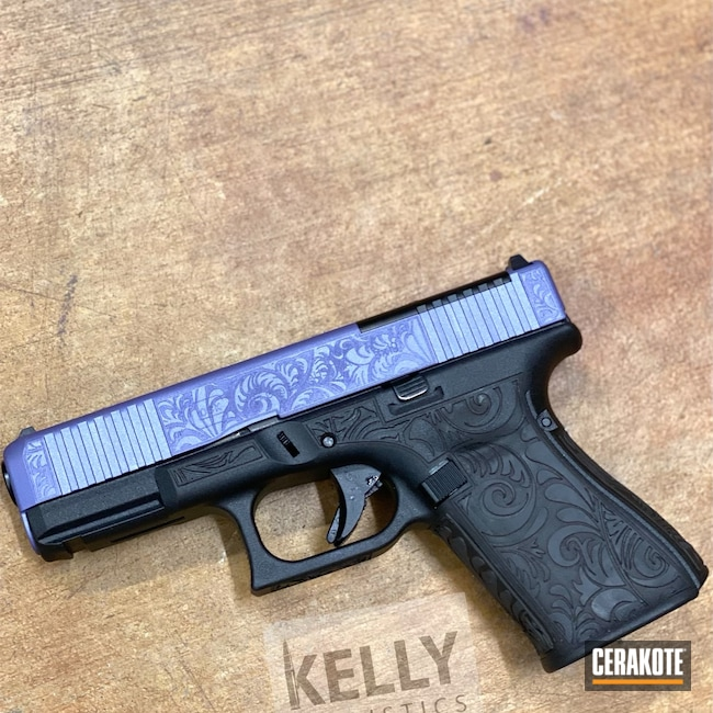 Cerakoted: S.H.O.T,Glock 19,CRUSHED ORCHID H-314,Purple
