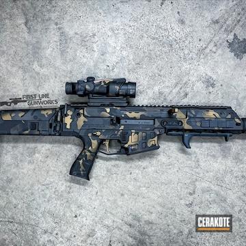 Custom Multicam Cz Bren Cerakoted Using Sniper Grey, Graphite Black And Burnt Bronze