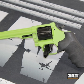 Dan Wesson Arms Revolver Cerakoted Using Zombie Green And Gloss Black