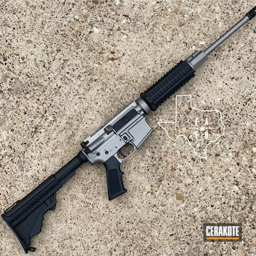 Ar Cerakoted Using Gun Metal Grey And Graphite Black