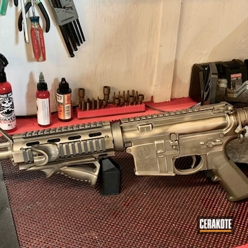 M&p15 Cerakoted Using Northern Lights And Copper