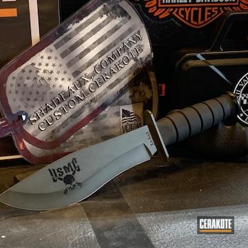 Custom Knife Cerakoted Using Magpul® O.d. Green