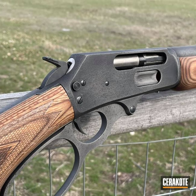 Cerakoted: S.H.O.T,.45,Marlin,Movie Theme,.45-70,Graphite Black H-146,Distressed,Lever Action,Armor Black H-190,Tactical Grey H-227,Marlin Classic Model 1895