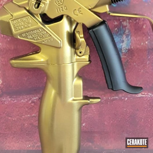 Cerakoted: Paint gun,Custom Color,Graphite Black H-146,Gun Candy Ingot,GunCandy