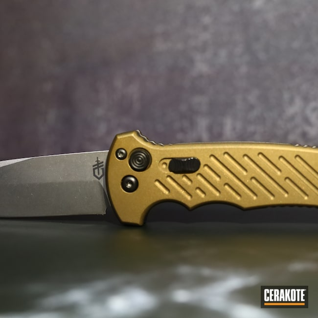 Cerakoted: S.H.O.T,automatic,Automatic Knife,Graphite Black H-146,Gerber,Burnt Bronze H-148,Knife,06 AUTO 10TH ANNIVERSARY