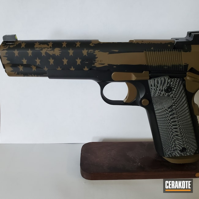 Cerakoted: S.H.O.T,Springfield 1911,SPRINGFIELD® FDE H-305,Armor Black H-190,1911