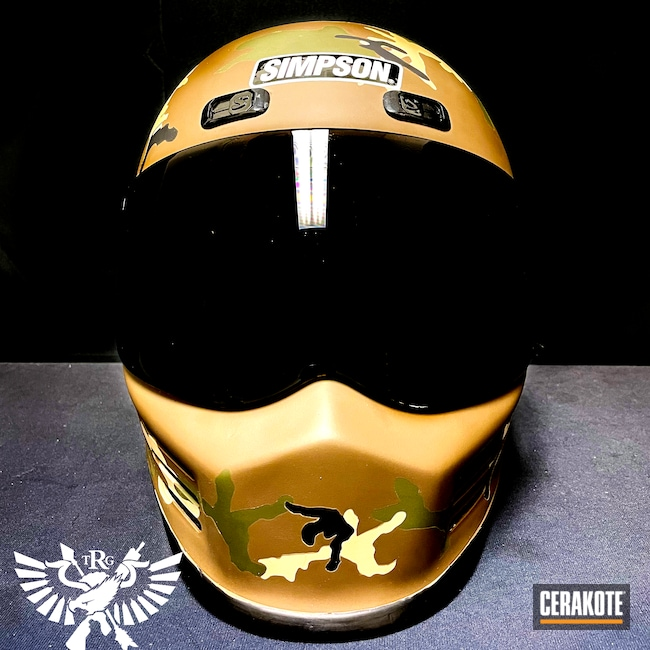 Cerakoted: Motorcycle Helmet,Graphite Black H-146,Helmet,Forest Green H-248,GLOCK® FDE H-261,Motorcycle