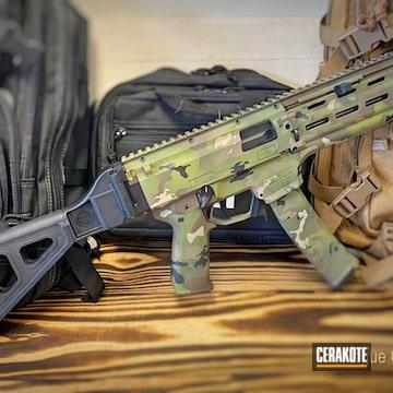 Custom Multicam Cz Scorpion Cerakoted Using Patriot Brown, Desert Sand And Multicam® Pale Green