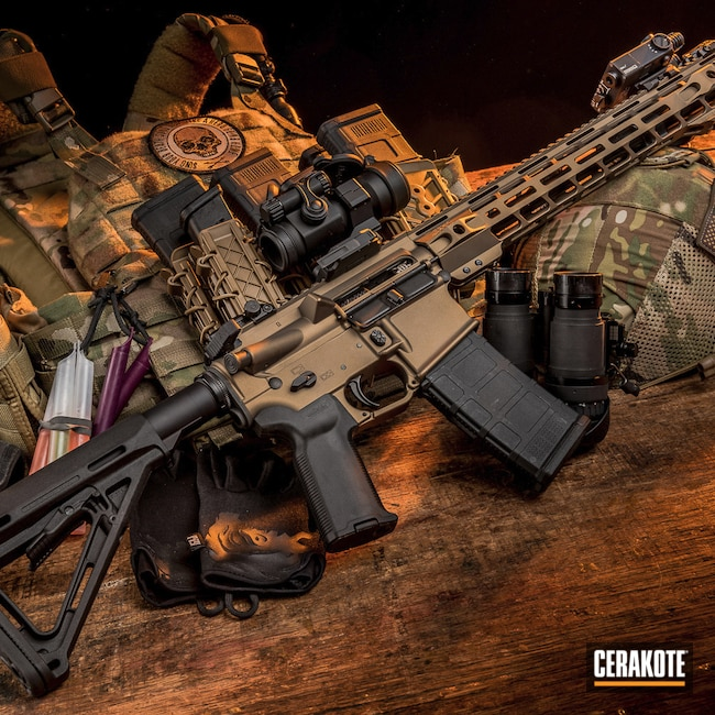 Cerakoted: S.H.O.T,Air Rifle,Insurgent Tactical,Burnt Bronze H-148,INS-15,5.56