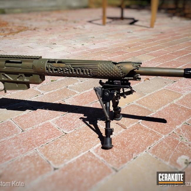 Cerakoted: S.H.O.T,Bolt Action Rifle,Battleworn,Burnt Bronze H-148,Remington,MAGPUL® O.D. GREEN H-232,.308,Remington 700
