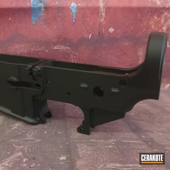Cerakoted: S.H.O.T,Lower,Graphite Black H-146,AR,AR Project,Black,80%,AR Build,AR15 Lower
