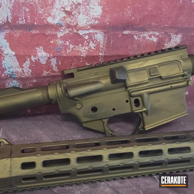 Cerakoted: S.H.O.T,Rifle,Battleworn,Graphite Black H-146,AR,AR Project,Burnt Bronze H-148,Tactical Rifle,AR Rifle,AR Parts,AR Build