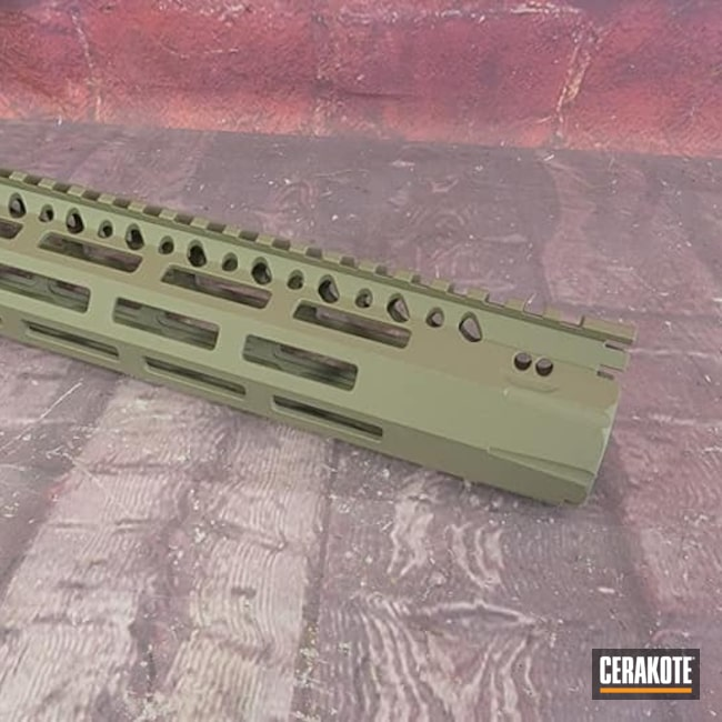 Cerakoted: S.H.O.T,AR,Handguard,Gun Parts,FDE,Ar Rail,Flat Dark Earth H-265,AR Build