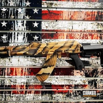 Ak-47 Cerakoted Using Barrett® Brown, Sniper Grey And Burnt Bronze